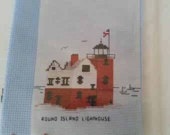 Round Island Lighthouse Counted Cross Stitch Kit