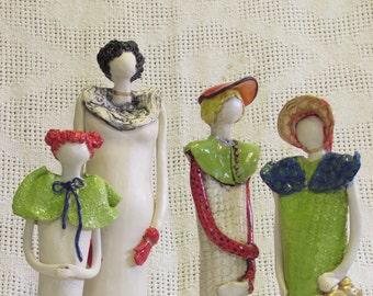 """Elegant"" figurines, mother and daughters. בובות ""אלגנט"" אמא ובנות"
