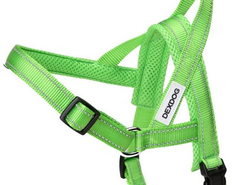 DEXDOG Easy Walk Dog Harness - Green X-Large XL - Easier Than Step In Dog Harness Dog Harness Vest! Classic Comfortable Designer Harnesses