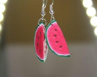 Watermelon Slices / Handmade Polymer Clay Earrings