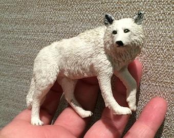 Vintage White Wolf Figurine