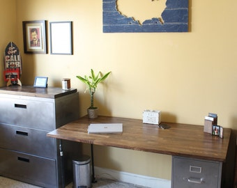 Make A Desk With A Door And File Cabinets For The Home Office Workspace Pinterest Desks Filing And Doors