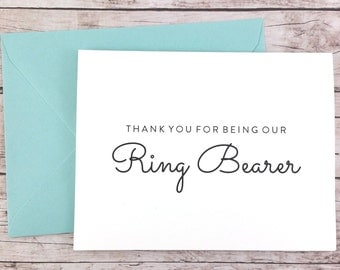 Thank You For Being Our Ring Bearer Card, Thank You For Being My Ring Bearer Card, Wedding Card- (FPS0016)