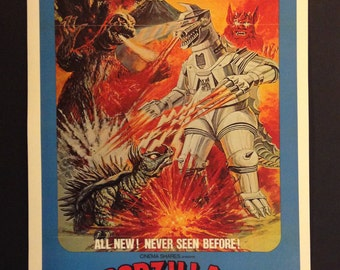 Godzilla Vs. Bionic Monster/MechaGozilla Movie Poster // Kaiju // 1974 // Science Fiction // Toho // Monster Movie //