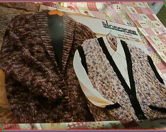 1997 Ironstone Yarns Sweater Vest Knitting Pattern OOP