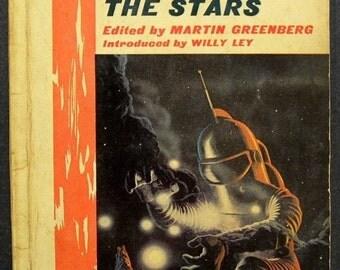 Vintage 1960s Science Fiction Book / Men Against the Stars / Short Stories / Martin Greenberg / Vintage Book /  60s Paperback