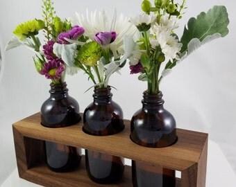 Hardwood Vase or Oil Diffuser - Walnut Wood Bud Vase