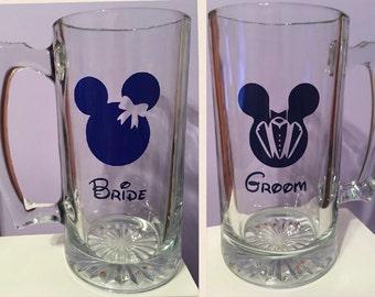 Bride and Groom Beer Steins