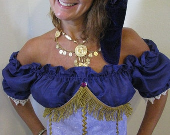 Gypsy halloween costume-3 pieces with accessories
