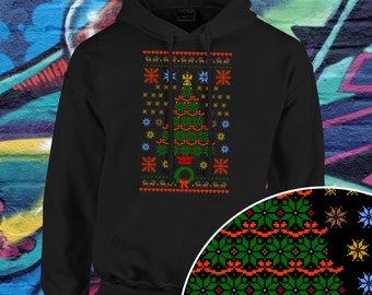Christmas Ugly Sweater | Christmas Tree Ugly Sweater | Retro Sweatshirt | Holiday Sweater | Matching Family Sweater | Plus Size Too | AR-44