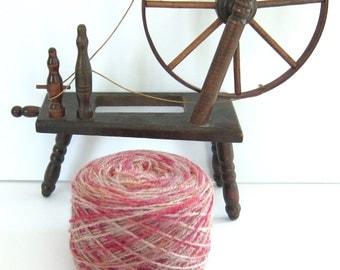 "2ply Wool Sock Yarn ""Peach Melba""  100% wool"