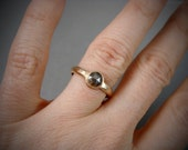 dark rose ... diamond and solid 14k gold ring