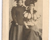 Victorian fashion hat teen girl Swords Bros. antique photo turn of the century