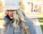 SMALL READY to SHIP Etta Hat- ivory tweed, womens newsboy, womens hat, womens cap, fall hat, wool hat