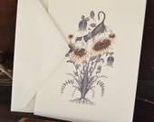On Sunflowers Note Card