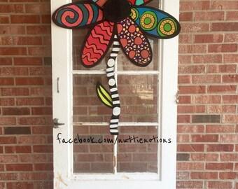 Metal Flower Door Hanger, Spring Door Decor, Summer Door Decor