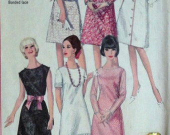Vintage 60's Simplicity 5953 Sewing Pattern, Misses' One-Piece A-Line Dress, Size 14, 34 Bust, Mad Men Mod