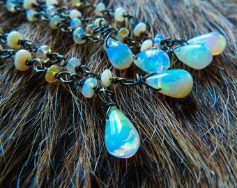 SALE Opal drop earrings | Opal birthstone earrings | Opal dangle earrings | Opal jewelry | Beijo Flor