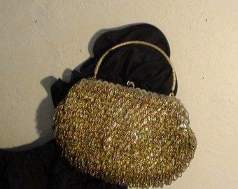 Vintage La Regale Beaded Bag with Removable Handle