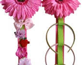 Hair Bow Holder and Headband Holder MATCHING Set with BLOOMING DAISY