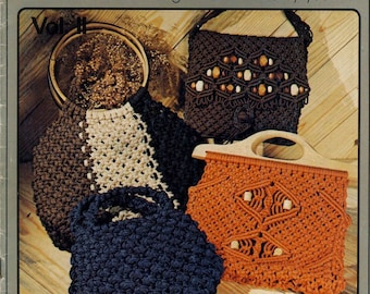 Macrame Purses 1970's Handbags and Pocketbooks - DIY Macrame Patterns