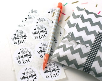 Shop Exclusive - Snail Mail is Love - snail mail stickers - modern calligraphy hand lettered stickers