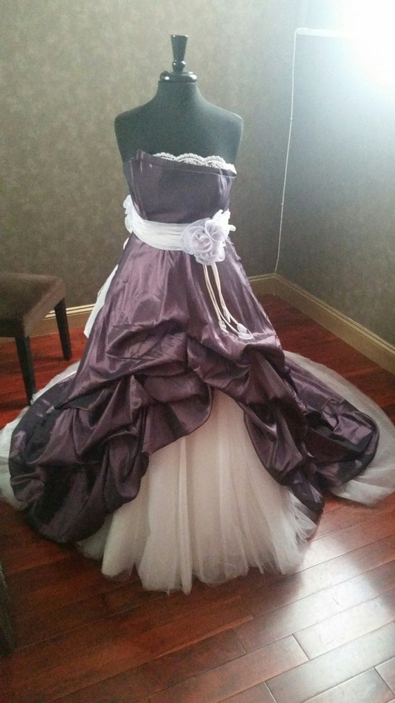 Purple And Ivory Wedding Dresses : Purple wedding dress with ivory details by weddingdressfantasy