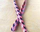 Lanyard - Pink Chevron