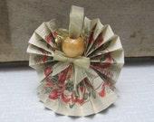 Beige Angel Ornament, Pine Cone Paper Ribbon, Angel Tree Decor, Angel Collector, Rustic Angel Decor, Secret Santa Gift, Angel SnowNoseCrafts