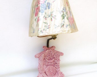 Vintage Wall Lamp | Wall Sconce | Pink Light Fixture | Wall Pocket | Nursery Lighting | Wall Planter