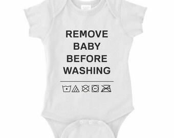 Funny LAUNDRING INSTRUCTION OnePiece Infant Bodysuit Creeper Crawler