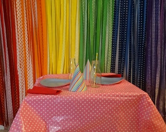 Rainbow Backdrop, Rainbow Party, Rainbow Birthday Party, Rainbow Fabric Streamer Backdrop