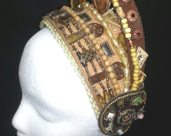 Found Objects Tribal Fusion Headdress