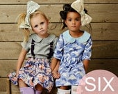Six Downloadable PDF Patterns Easy Girls Sewing Patterns for a Vintage Modern Wardrobe Peter Pan Collars and Twirl Skirts and Bloomers
