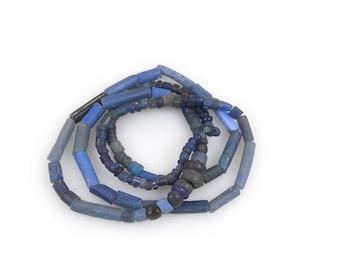 Large Ancient Djenne Glass Beads & Medieval Aggrey Glass Beads Strand, Mali