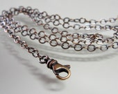 Bronze cable chain 18 inch long necklace (2.5mm) antique style oxidized for RQP Studio wax seal jewelry