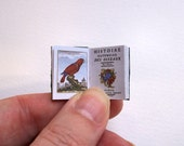 Dolls' House Miniature Book - Histoire Naturelle Oiseaux  (leather bound)