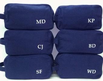 Set of 9 Canvas Toiletry Bags Groomsmen Wedding Gifts Monogrammed