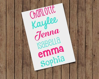 Name Decal, Personalized Name Decal, Name Vinyl Decal, Laptop Decal, Yeti Decal