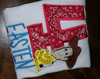Toy Story Woody Birthday Shirt