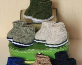 Doll shoes ,knitted doll shoes , boy doll shoes ,Waldorf ,doll clothes