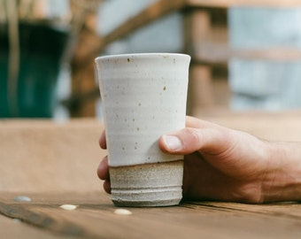 Ceramic Pint: Hand thrown, handmade by Hanselmann Pottery