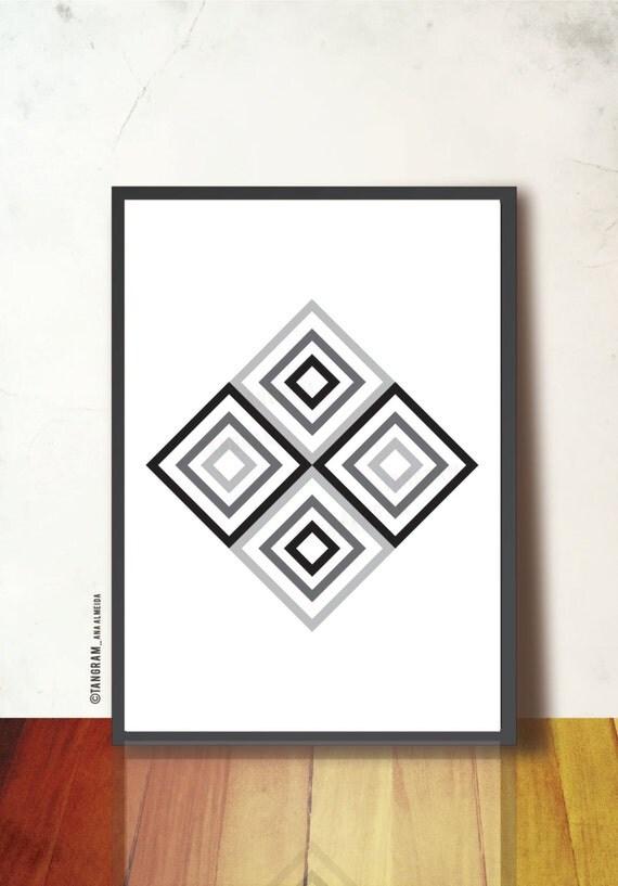 Affiche scandinave retro printable geometric art abstract - Affiche design scandinave ...
