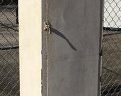 Vintage Steel Storage Locker Pantry 4 Shelves Industrial Metal Rusty Distressed Paint