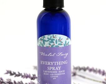 Lavendar Spray - Lavender Room Spray - Body Spray - Lavender - Organic Essential Oil - Aromatherapy Spray - Pillow Spray - Linen Spray