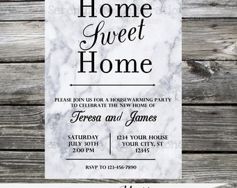 Marble Invitation Birthday Invitation Bridal Shower Baby Shower Invitation DIY Invitation Adult Invite Housewarming Party Retirement Invite