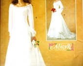 McCall's 4300 Alicyn Exclusives Medieval Style Empire Waist Wedding Gown Sewing Pattern