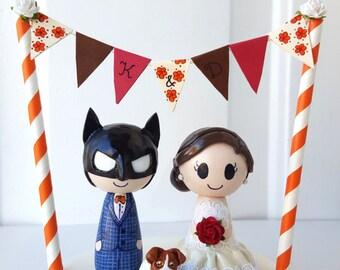 Wedding Cake Topper customizable w/ bunting!