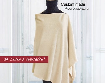 Custom made pure Cashmere poncho / Poncho / Cape / Pure cashmere / Women