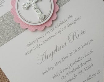 30x First Holy Communion Invitations